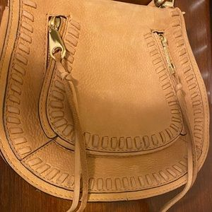 Rebecca Minkoff Camel Leather Saddle  Bag